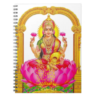 Jornal Hindu do caderno de Durga Lakshmi da deusa