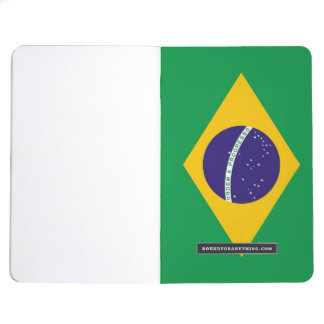 Jornal patriótico com a bandeira de Brasil