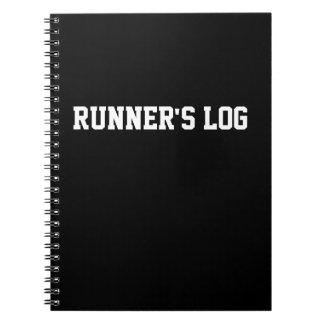 Jornal Running da espiral do preto do caderno do