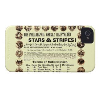 Jornal semanal de 1918 estrelas & de listras de capinha iPhone 4