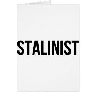 Josef estalinista Stalin União Soviética URSS CCCP Cartão Comemorativo