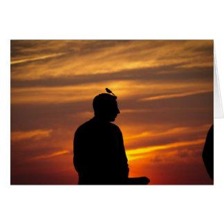 Joseph no por do sol cartão