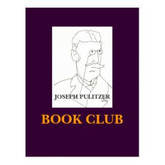 JOSEPH PULITZER, CLUBE DE LEITURA - CARTÃO CARTÃO POSTAL
