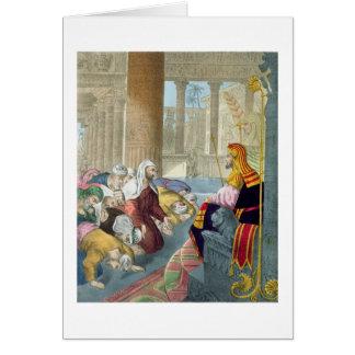 Joseph que recebe a homenagem de seus irmãos, de cartão