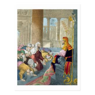 Joseph que recebe a homenagem de seus irmãos de cartao postal