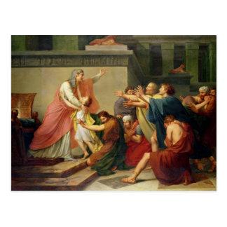 Joseph reconheceu por seus irmãos cartão postal