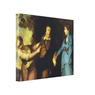 Joshua Reynolds-Garrick entre a tragédia e a coméd Impressão De Canvas Esticada