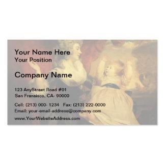 Joshua Reynolds-Georgiana com sua filha infantil Cartões De Visitas