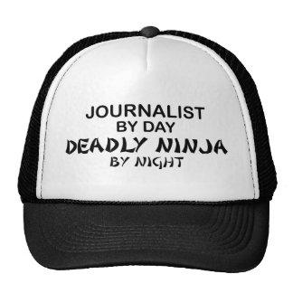 Journalista Ninja mortal em a noite Boné