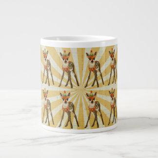 Jovem corça & caneca pequena do pássaro jumbo mug