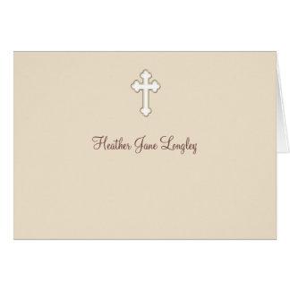 Jovem corça - obrigado religioso personalizado cartão de nota