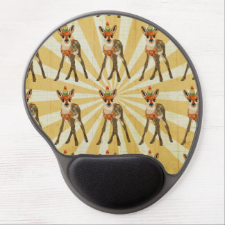 Jovem corça & pássaro pequeno Mousepad Mouse Pad De Gel