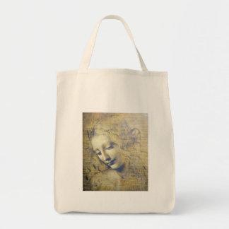 jovem mulher 2 sacola tote de mercado