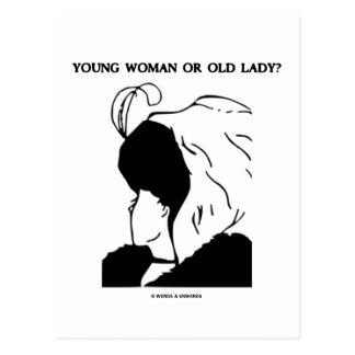 Jovem mulher ou senhora idosa? (Ilusão óptica) Cartão Postal