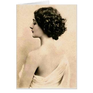 Jovem mulher retro da fotografia da arte das mulhe cartoes