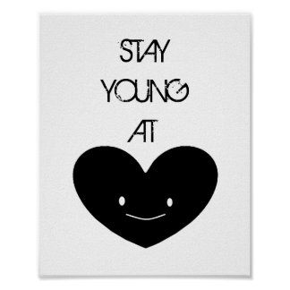 Jovens da estada no poster do coração pôster