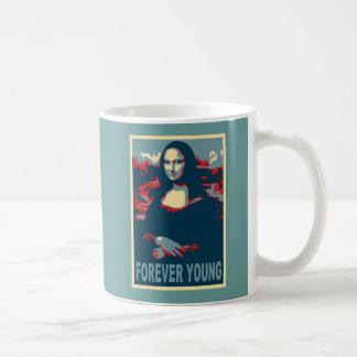 Jovens de Mona Lisa para sempre Caneca De Café