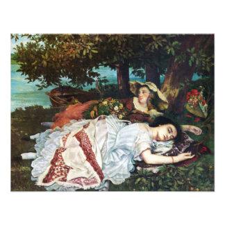 Jovens senhoras de Courbet nos bancos do Seine Convite