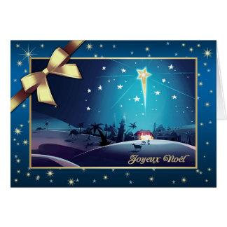Joyeux Noël. Cartão de Natal customizável francês