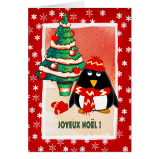 Joyeux Noël. Cartão de Natal francês