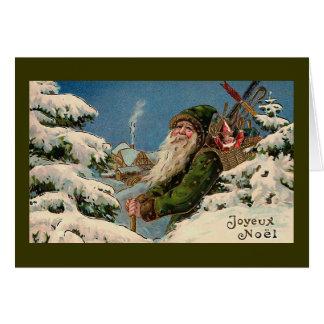 """Joyeux Noel"" cartão do natal vintage """