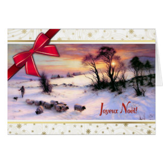Joyeux Noël. Cartões de Natal franceses