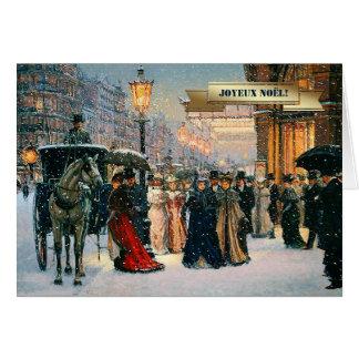 Joyeux Noël. Cartões franceses do Natal