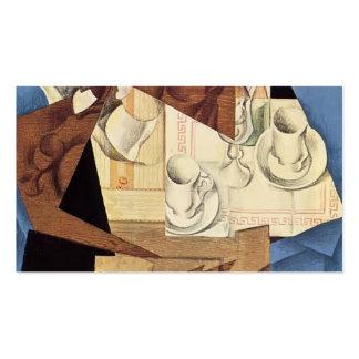 Juan Gris: Pequeno almoço Modelos Cartões De Visitas