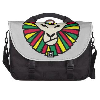 Juba colorida Rastafari do leão Bolsas Para Notebook