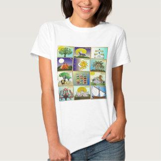 Judaica 12 tribos de arte de Israel Tshirt