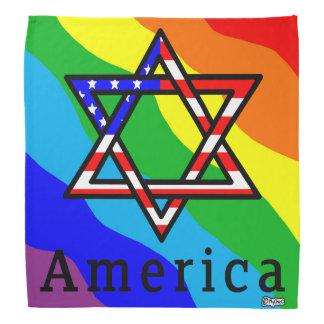Judaísmo da estrela de David de América! BANDANA