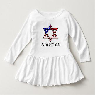 Judaísmo da estrela de David de América! VESTIDO