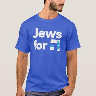 Judeus para a camisa hebréia azul de H Hillary