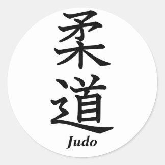 Judo Adesivo Em Formato Redondo