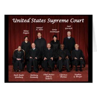 Juizes do Tribunal Supremos dos Estados Unidos Cartão Comemorativo Grande