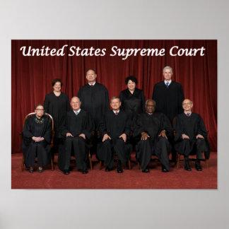 Juizes do Tribunal Supremos dos Estados Unidos Poster