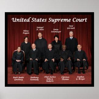 Juizes do Tribunal Supremos dos Estados Unidos Pôster