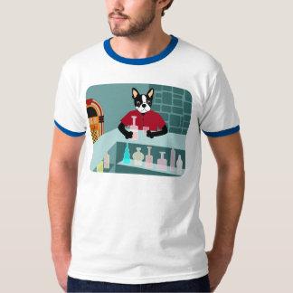 Jukebox do uísque de Boston Terrier Tshirt