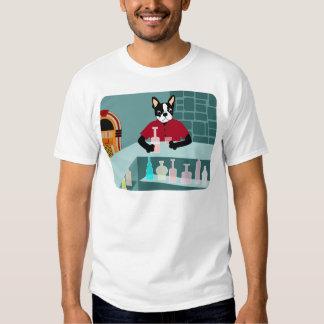 Jukebox do uísque de Boston Terrier Tshirts