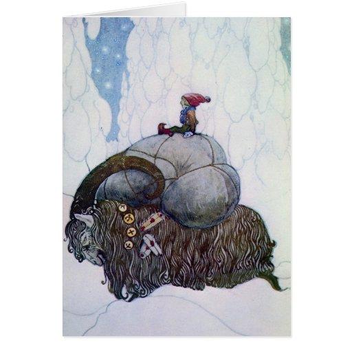 Julbocken - a cabra do Natal Cartao