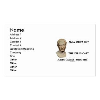 Júlio César Alea Iacta Est o dado é citações Cartão De Visita