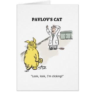 Julius Katz o cartão de Pavlov do gato