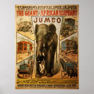 Jumbo, o poster gigante do elefante africano