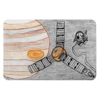 """Juno alcança Jupiter"" ímã (4"" x6"")"