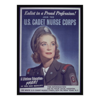 Junte-se a cadete da enfermeira convite 13.97 x 19.05cm