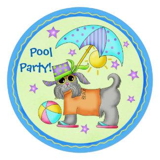 Junte-se à festa na piscina da praia do cão do div