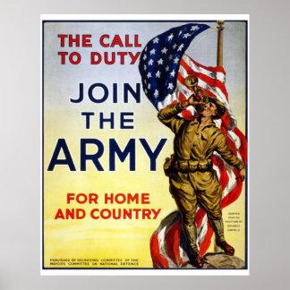 Junte-se ao exército poster