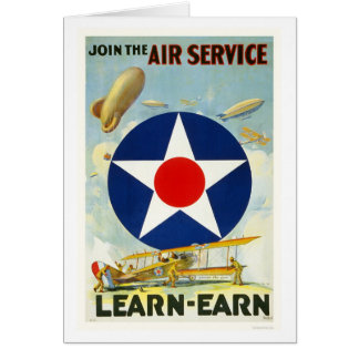 Junte-se ao serviço aéreo cartões