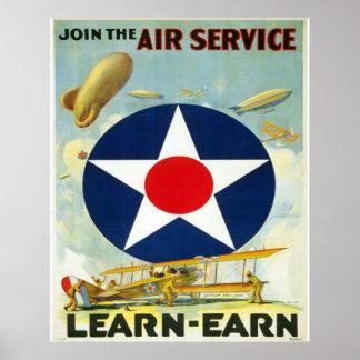 Junte-se ao serviço aéreo pôster
