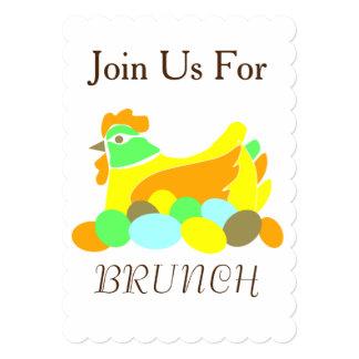 Junte-se nos para a refeição matinal convite 12.7 x 17.78cm